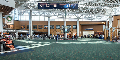 Rubenstein's Contract Carpets - Portland International Airport Terminal Recarpet
